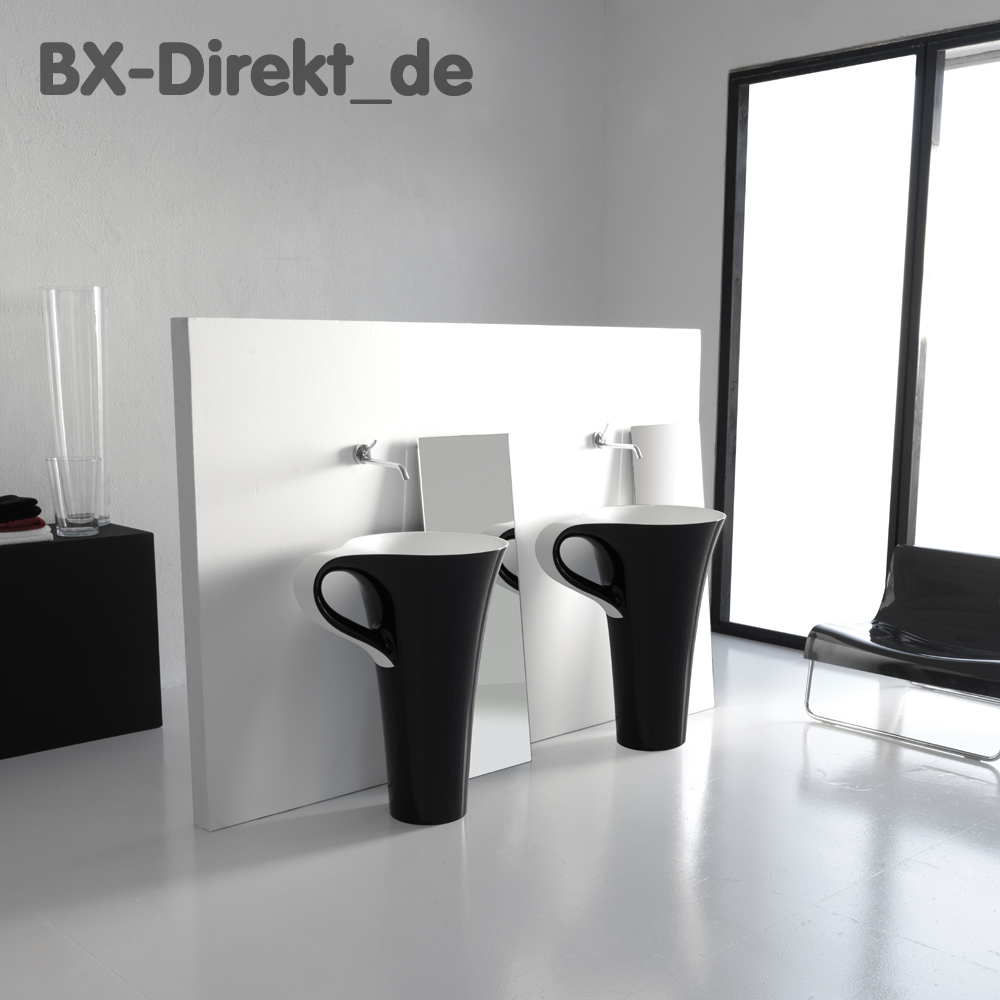 waschtisch in form einer tasse schwarz wei waschbecken. Black Bedroom Furniture Sets. Home Design Ideas