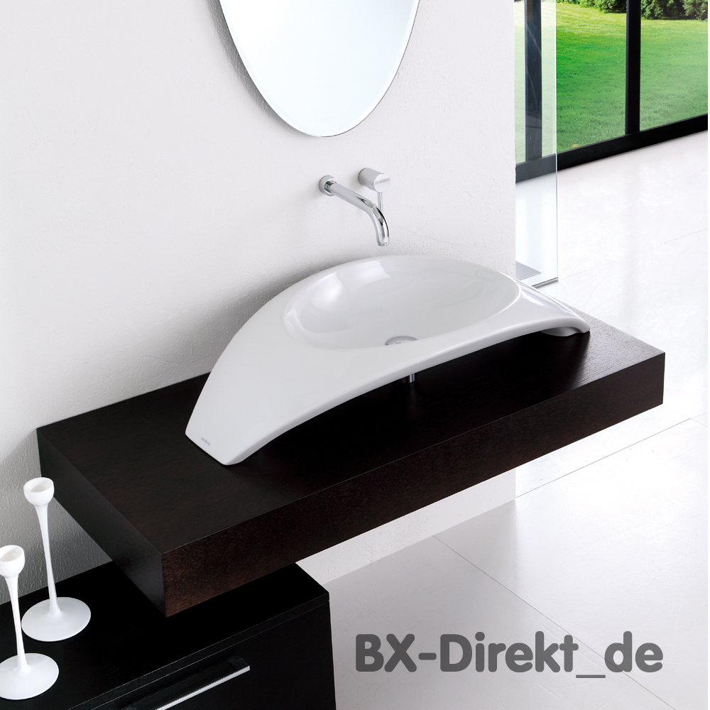 aufsatzwaschtisch in bogenform waschbecken aus. Black Bedroom Furniture Sets. Home Design Ideas