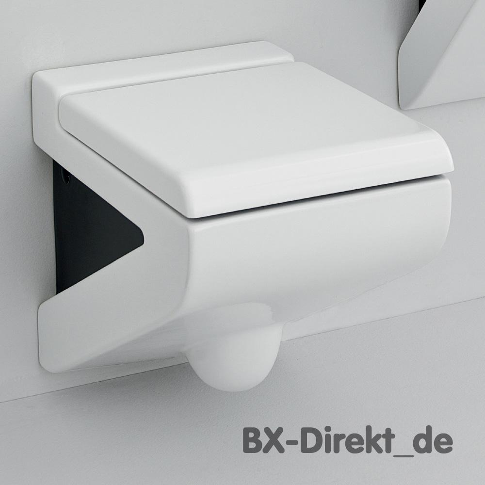 zweifarbiges designer wc weiss schwarz mit sp lrand. Black Bedroom Furniture Sets. Home Design Ideas