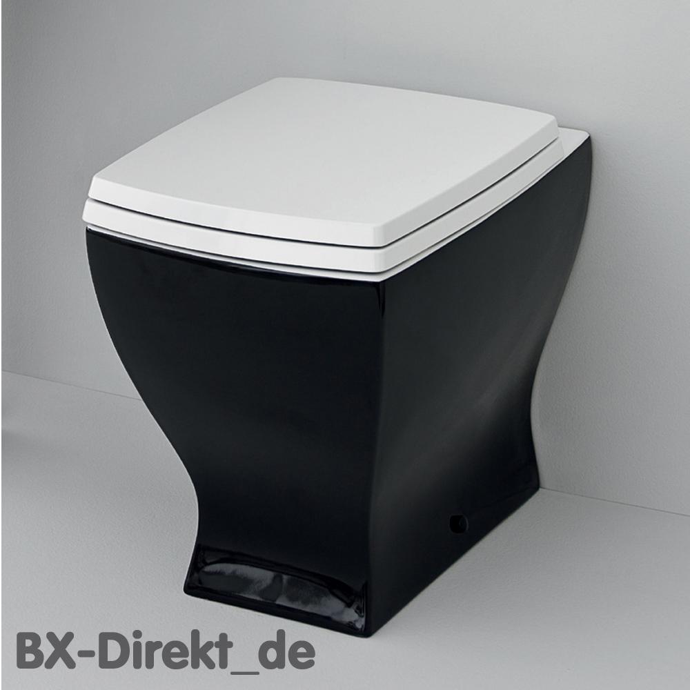 schwarzes retro design stand-wc auch im schwarz - weiss vintage look