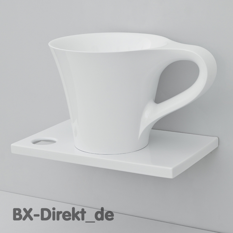 cup waschtisch design einer tasse als aufsatz waschbecken. Black Bedroom Furniture Sets. Home Design Ideas