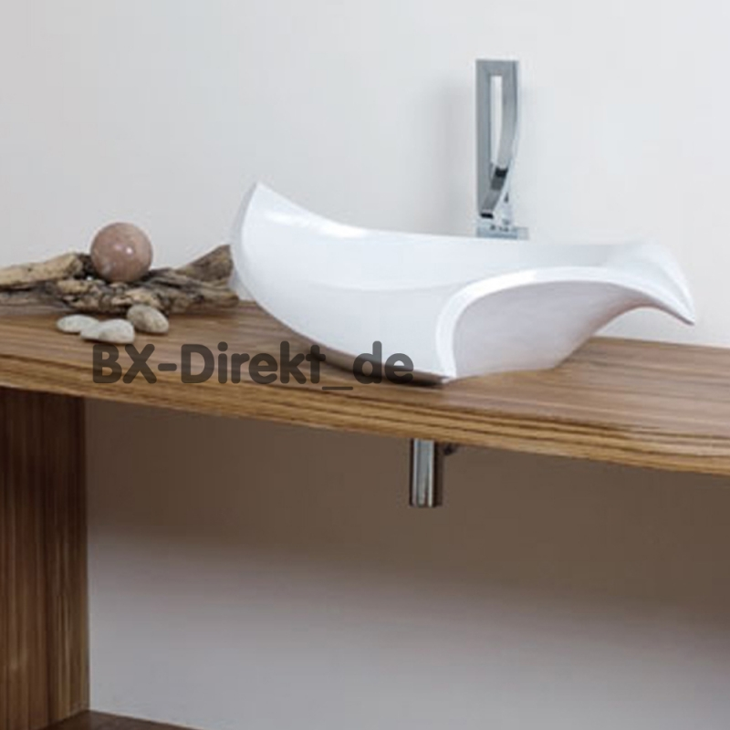 Waschtisch Geschwungen aufsatz-waschtisch, muschelförmig - likos muschel waschbecken keramik