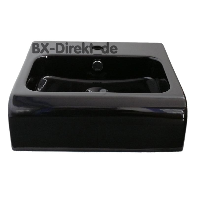 kleiner keramik waschtisch schwarz weiss 45 cm halbeinbau. Black Bedroom Furniture Sets. Home Design Ideas