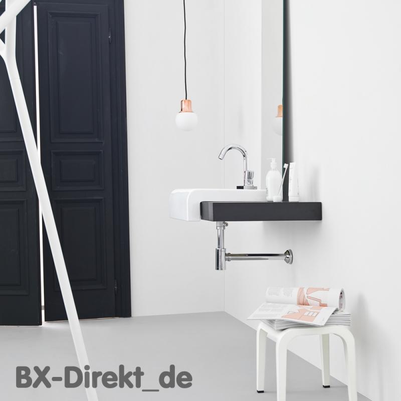 kleiner keramik waschtisch schwarz weiss 45 cm halbeinbau waschbecken. Black Bedroom Furniture Sets. Home Design Ideas