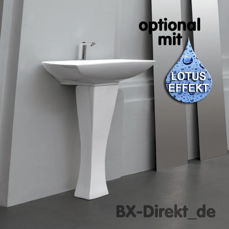 Säulenwaschtisch im Retro Look das Jazz Waschbecken auch mit Lotuseffekt