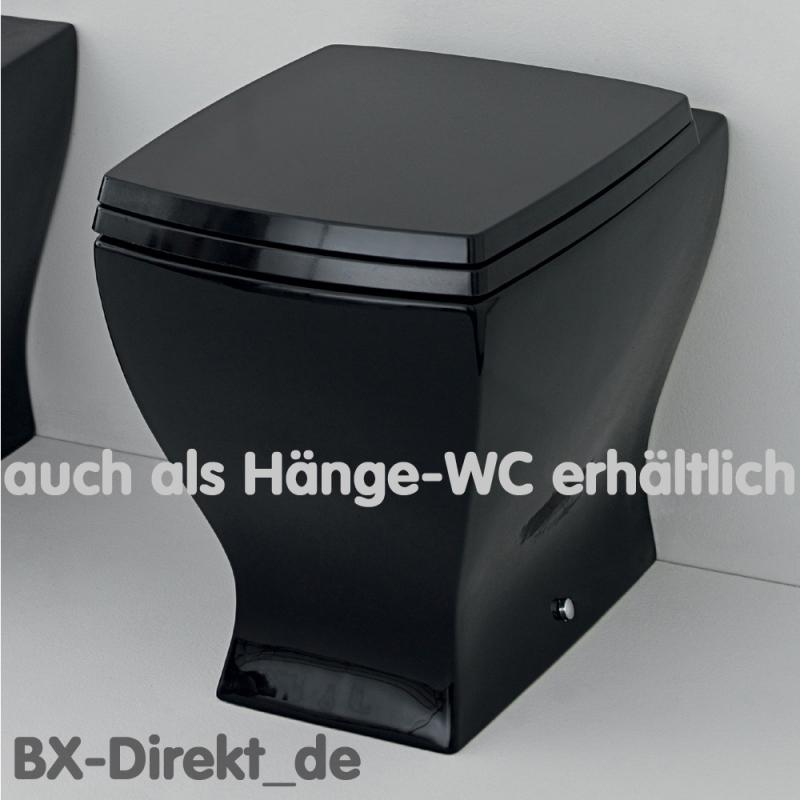 zweifarbiges h nge wc vintage look schwarz weiss wc retromodern design. Black Bedroom Furniture Sets. Home Design Ideas