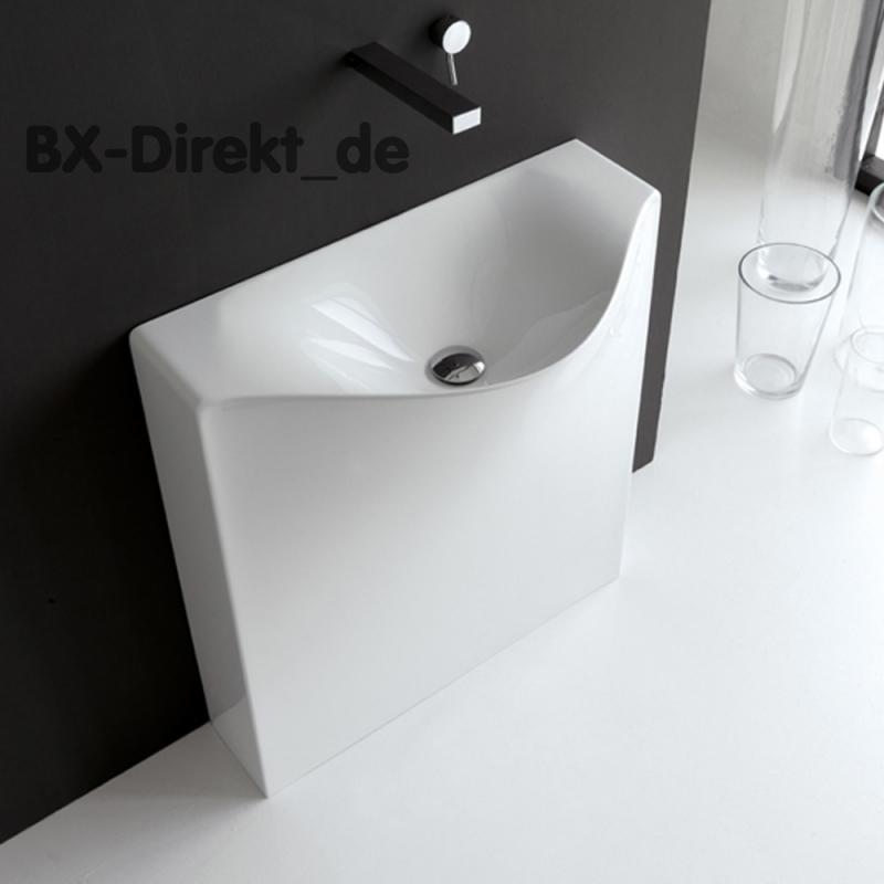 Standwaschbecken BACK, wandstehender Waschtisch, das Designer Monoblock Waschbecken