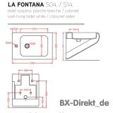 Italienisches Designer Bidet in Weiss LaFontana von ArtCeram Original Made in Italien
