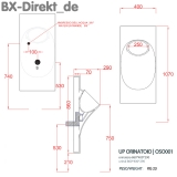 Designer Urinal UP aus Keramik, ein Pissoir im Wandelement integriert, auch mit Sensor für die Spülung