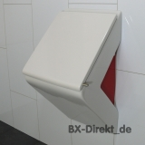 Urinal bicolor red white ceramic also with lotus effect nano coating