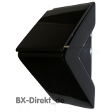 black urinal with lid in black - designer urinal pissoir from Italy