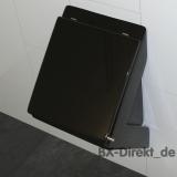schwarzes Urinal mit Deckel in Schwarz Designer Pissoir Pinkelbecken aus Italien