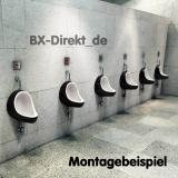 Urinal im Retro Look Druckspüler Pissoir Pinkelbecken schwarz im 70er Jahre Style