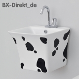 Kuhfell Design Waschtisch COW das Waschbecken mit Kuhfellflecken in Schwarz