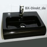 Waschbecken in Schwarz, der schwarze Designer Keramik Waschtisch aus Italien auch mit Lotuseffekt