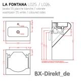 Keramik Waschtisch in den Farben Weiss + Schwarz Waschbecken LaFontana von ArtCeram aus Italien