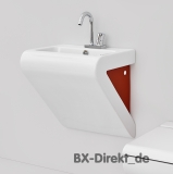 aFontana washbasin white and red two-tone red ceramic washbasin 55cm