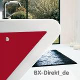 LaFontana Designer Waschtisch Weiss und Rot zweifarbig rotes Waschbecken aus Keramik