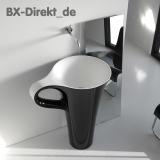 Waschtisch in Form einer Tasse zweifarbig in Schwarz + Weiss Waschbecken CUP Kaffetasse aus Italien