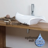 Countertop washbasin, shell-shaped - The LIKOS shell ceramic washbasin