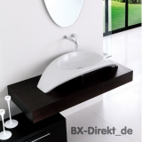 Carisma Countertop washbasin made of Italian ceramic, the countertop washbasin by Meridiana