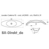 exclusiver Aufsatzwaschtisch in Bogenform aus italienischer Keramik, das Aufsatz-Waschbecken von Meridiana