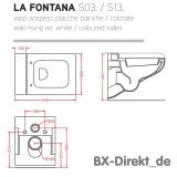 zweifarbiges Designer WC bicolor weiß schwarz mit Softclose von ArtCeram aus Italien