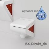 bicolor Designer WC zweifarbig weiss rot Spülrand  auch mit Softclose LaFontana Toilette von ArtCeram aus Italien