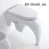 Graziles italienisches Designer WC als hochwertige Keramik Toilette Carisma von Meridiana aus Italien