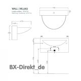 Keramik Waschtisch, das italienische Vorbau Waschbecken WALL Monoblock L790 von Designer Carlo Urbinati