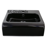 small ceramic washbasin black or white 45cm wide semi-recessed washbasin designer from Italy