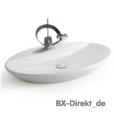Elegant oval washbowl with tap hole 75 cm Designer washbasin by Meridiana from Italy