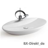 Elegante ovale Waschschale mit Hahnloch 75 cm Designer Waschbecken von Meridiana aus Italien