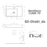 Waschtisch CUBIK von Meridiana Keramik, das Designer Waschbecken aus Italien