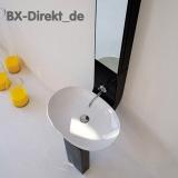 weisse oder schwarze Waschschale LaFontana Keramik in Schwarz oder Weiss LF16 60 cm oval