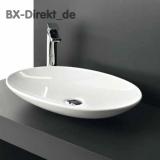 weiße oder schwarze Waschschale LaFontana oval aus Keramik in Schwarz oder Weiss LF16 60 cm