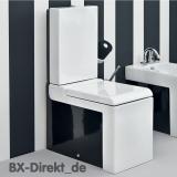 LaFontana Monoblock Stand WC Keramik Toilette in Weiss und Schwarz