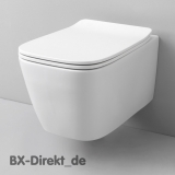 Rimless designer toilet A16 rimless by ArtCeram WC without flush rim