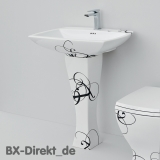 Sink JAZZ, the washing table with decor LETTERING in black in graceful design