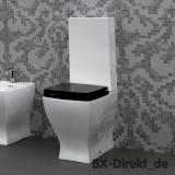 WC mit Keramik Spülkasten im Retro Design als Monoblock Vintage Stand-WC Toilette