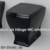 zweifarbiges Hänge-WC im Vintage Look schwarz weiss WC retromodern Design pur aus Italien