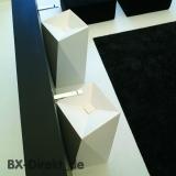 moderner Designer Waschtisch mit geometrischen Formen als freistehendes Stand Waschbecken Sharp