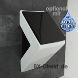 Designer urinal in elegant white with black urinal lid and sides in black - urinal with lid