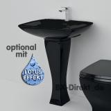 Schwarzes Waschbecken JAZZ mit Waschtischsäule retromodern und elegant von ArtCeram
