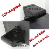 Toilet with bidet in black at a TOP price in the set - Original Italian designer wc and bidet